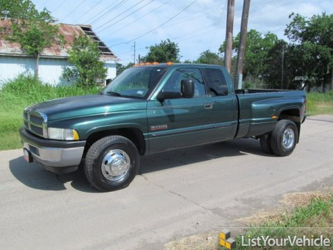 2002 Dodge Ram 3500 SLT Regular Cab Dually in Forest Green Pearlcoat