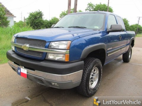 2004 Chevrolet Silverado 2500HD LS Extended Cab 4x4 in Arrival Blue Metallic