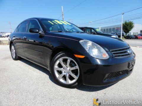 2005 Infiniti G 35 x Sedan in Black Obsidian
