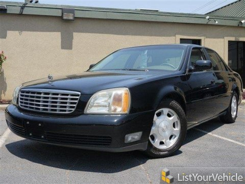 2002 Cadillac DeVille Sedan in Sable Black