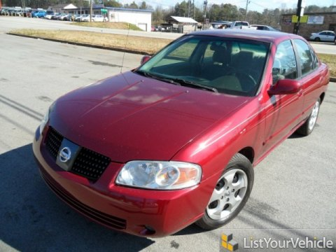 2002 Nissan Sentra GXE in Inferno Red