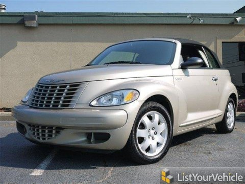2005 Chrysler PT Cruiser Convertible in Linen Gold Metallic Pearl