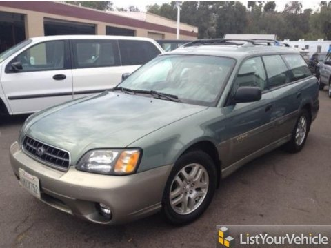 2003 Subaru Outback Wagon in Seamist Green Pearl