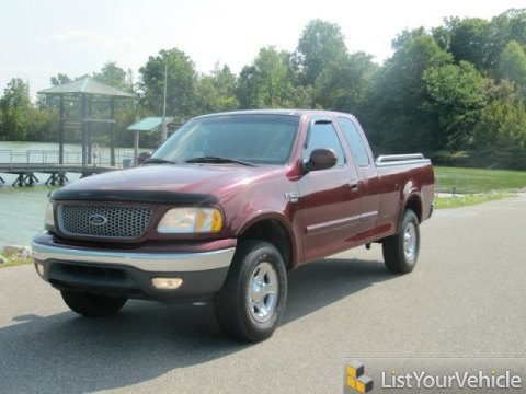 1999 Ford F150 XLT Extended Cab 4x4 in Dark Toreador Red Metallic