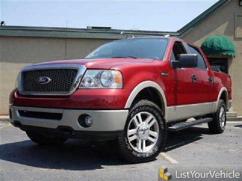2007 Ford F150 XLT SuperCrew 4x4 in Redfire Metallic