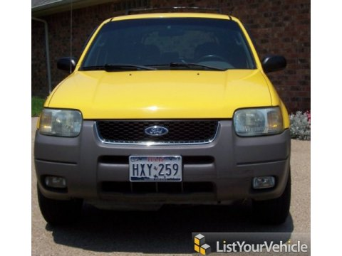 2001 Ford Escape XLT V6 in Chrome Yellow Metallic