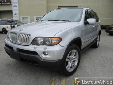 2005 BMW X5 4.4i in Titanium Silver Metallic