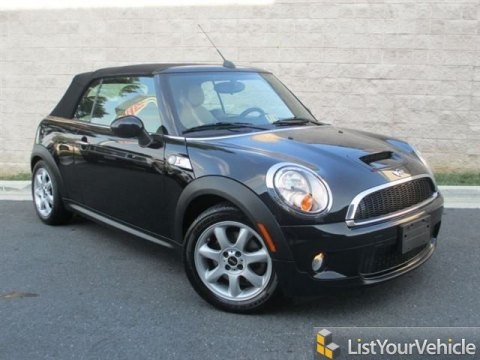 2010 Mini Cooper S Convertible in Midnight Black Metallic