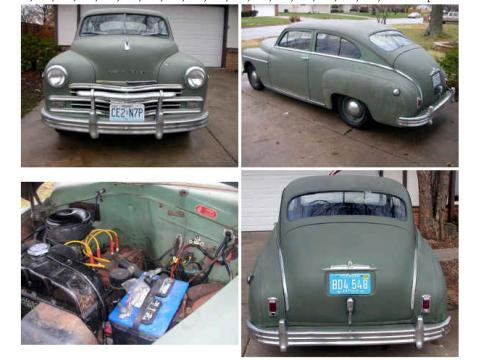 1949 Plymouth P-17 Deluxe Five Passenger Turtle-back Fastback in Green