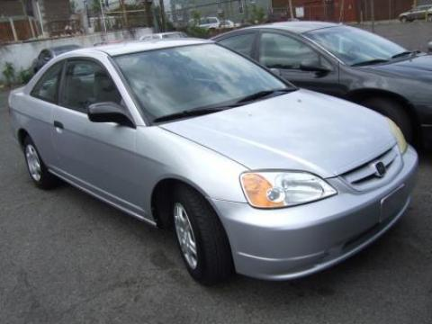 2001 Honda Civic LX Coupe in Satin Silver Metallic