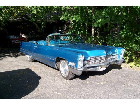 1968 Cadillac DeVille Convertible in Baby Blue