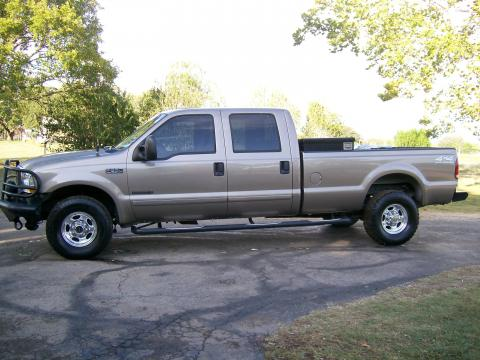 2002 Ford F350 Super Duty Lariat Crew Cab 4x4 Off Road in Arizona Beige Metallic
