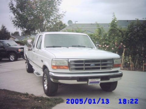 1996 Ford F250 XLT Extended Cab 4x4 in Oxford White