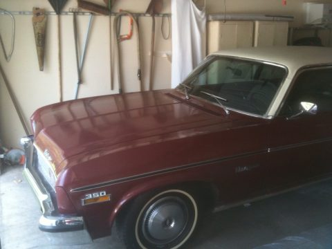 1973 Chevrolet Nova Coupe in Dark Red Metallic