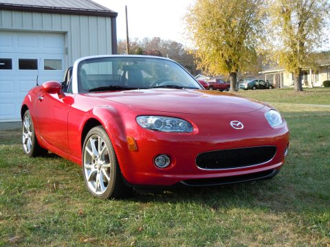 2006 Mazda MX-5 Miata 3rd Generation Limited Roadster in Velocity Red