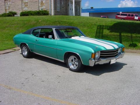 1972 Chevrolet Chevelle SS in Light Turquoise