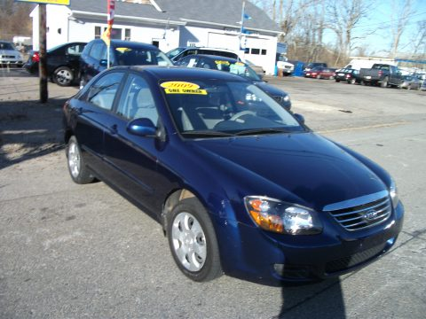 2009 Kia Spectra EX Sedan in Deep Ocean Blue Metallic