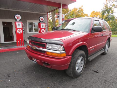 2000 Chevrolet Blazer LS 4x4 in Majestic Red Metallic