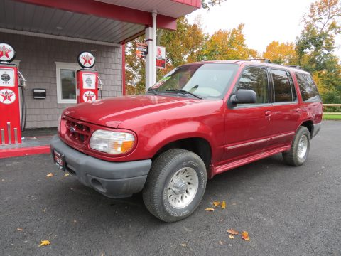 2000 Ford Explorer XLS 4x4 in Toreador Red Metallic