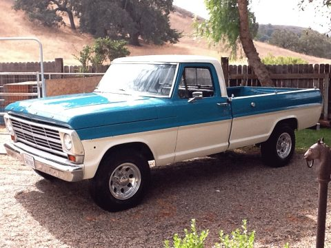 1969 Ford F250 Camper Special in Blue and White