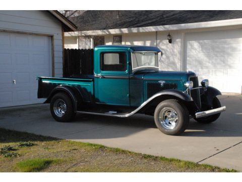 1934 Ford Pickup Street Rod in Teal/Gray
