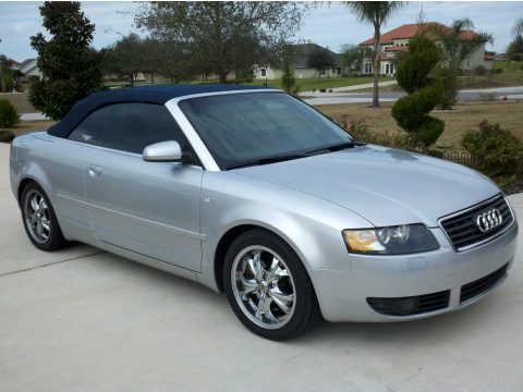 2005 Audi A4 3.0 Cabriolet in Light Silver Metallic