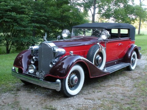 1934 Packard Twelve Convertible Model 1107 in Red