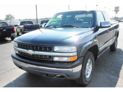 2001 Chevrolet Silverado 1500 LS Extended Cab 4x4 in Forest Green Metallic