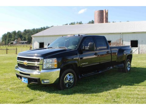 2009 Chevrolet Silverado 3500HD LTZ Crew Cab 4x4 Dually in Black
