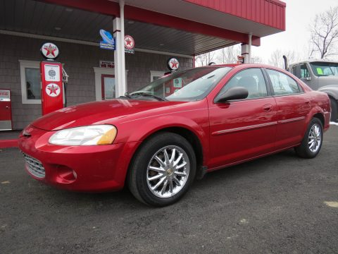 2002 Chrysler Sebring LXi Sedan in Ruby Red Pearl
