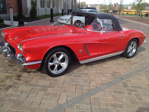 1962 Chevrolet Corvette Convertible in Roman Red
