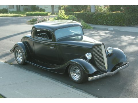 1934 Ford Coupe 3 Window in Satin Black Primer/Paint