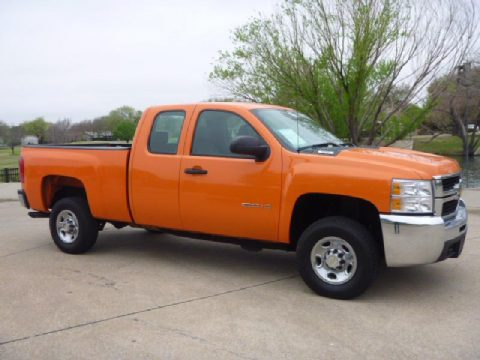 2010 Chevrolet Silverado 2500HD Extended Cab in Orange