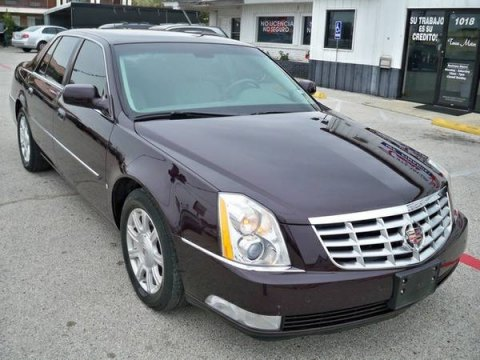 2008 Cadillac DTS  in Black Cherry