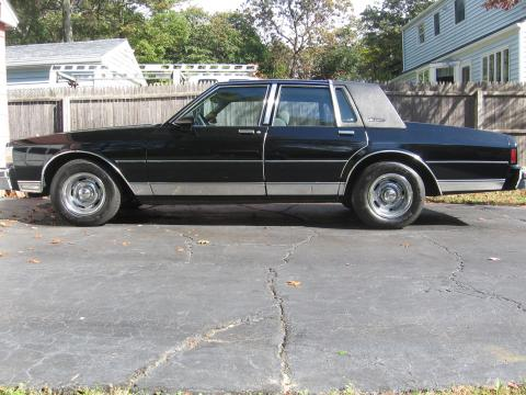 1987 Chevrolet Caprice Classic Brougham LS Sedan in Black