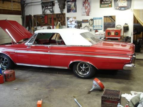 1963 Plymouth Sport Fury Convertible in Red