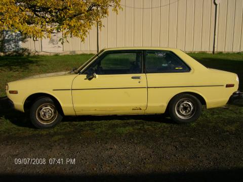 1979 Datsun B210 2 Door Sedan in Yellow