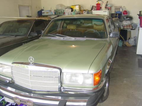 1977 Mercedes-Benz S Class 450 SEL in Lime Green
