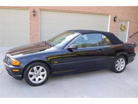 2001 BMW 3 Series 325i Convertible in Jet Black