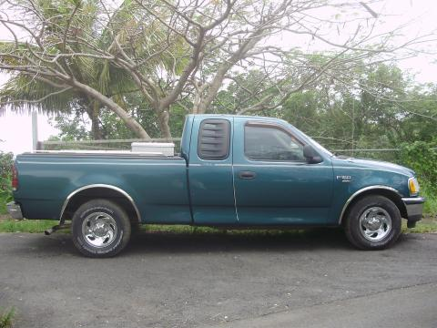 1998 Ford F150 XL SuperCab in Pacific Green Metallic