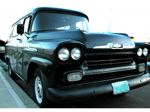 1958 Chevrolet 3100 Panel Truck in Black