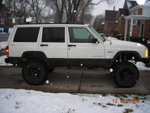 1997 Jeep Cherokee Sport in Stone White