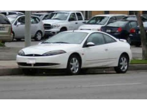 2001 Mercury Cougar V6 in Vibrant White